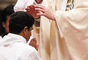 Pope ordains one of 10 priests during Mass in St. Peter's Basilica