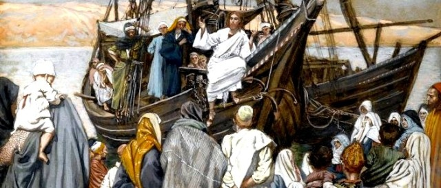 Brooklyn_Museum_-_Jesus_Preaches_in_a_Ship_(Jésus_prèche_dans_une_barque)_-_James_Tissot_-_overall